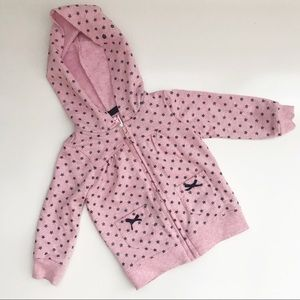 Pink & Blue | Pink Hoodie with Blue Sparkly Stars